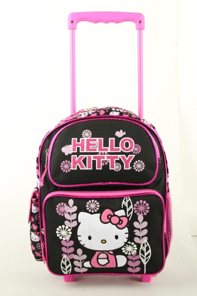 Hello Kitty Flower Small 12 Quot Girls Rolling Backpack Kids
