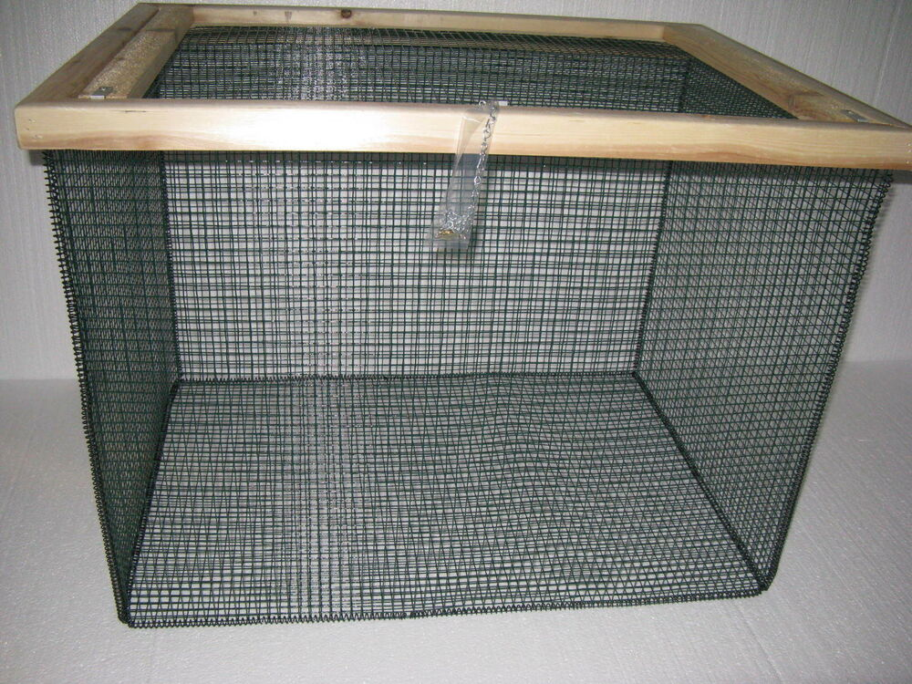 3 ft best floating live fish well basket with 1 2 wire for Live fish basket
