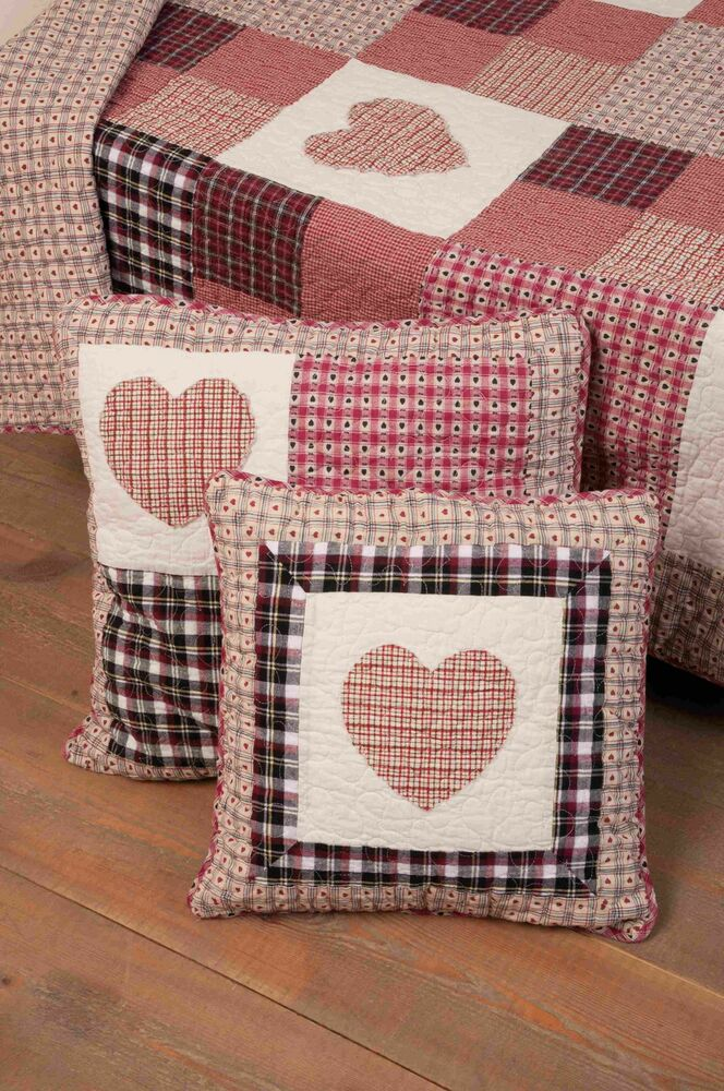 clayre eef tagesdecke red heart quilt berwurf. Black Bedroom Furniture Sets. Home Design Ideas