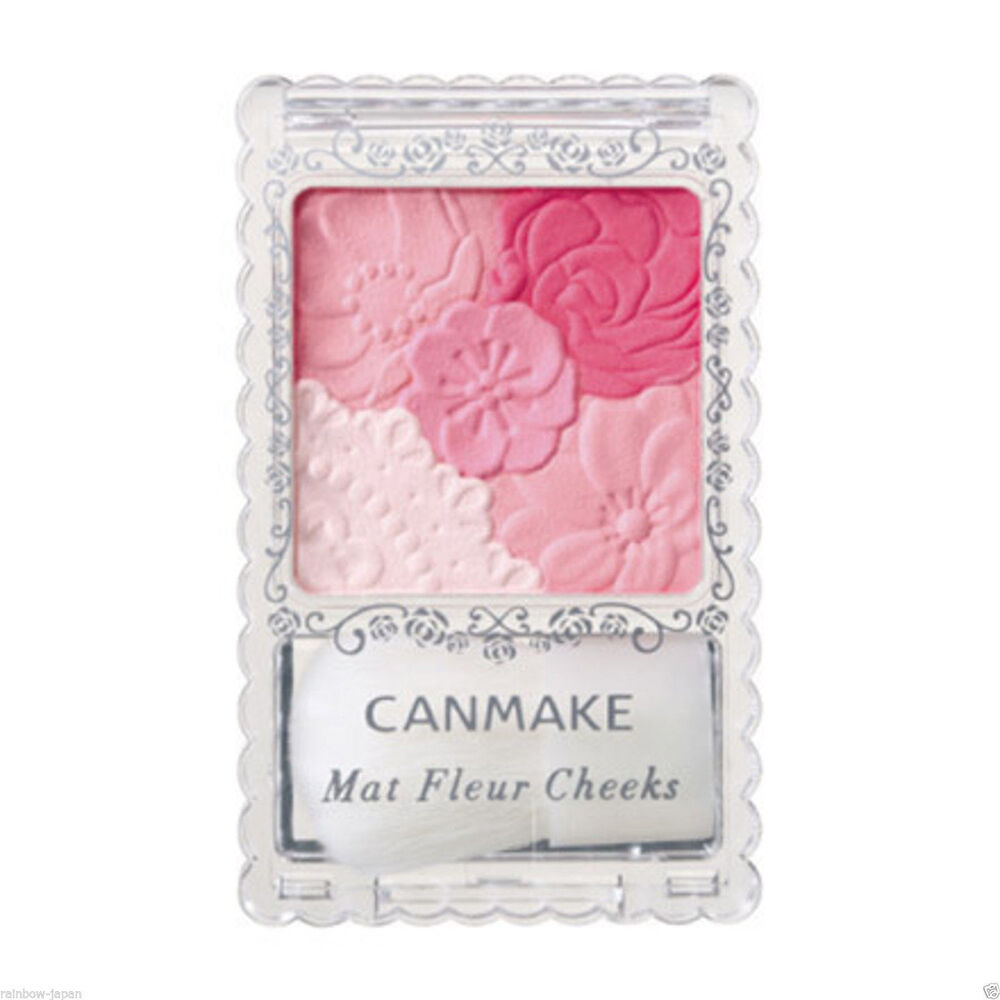 JAPAN ☀CANMAKE☀ 02 Matte Girly Rose Matt Fleur Cheeks ...