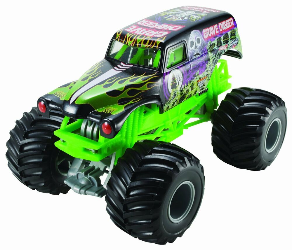 hot wheels monster jam grave digger die cast vehicle 1 24 scale new free shi ebay. Black Bedroom Furniture Sets. Home Design Ideas
