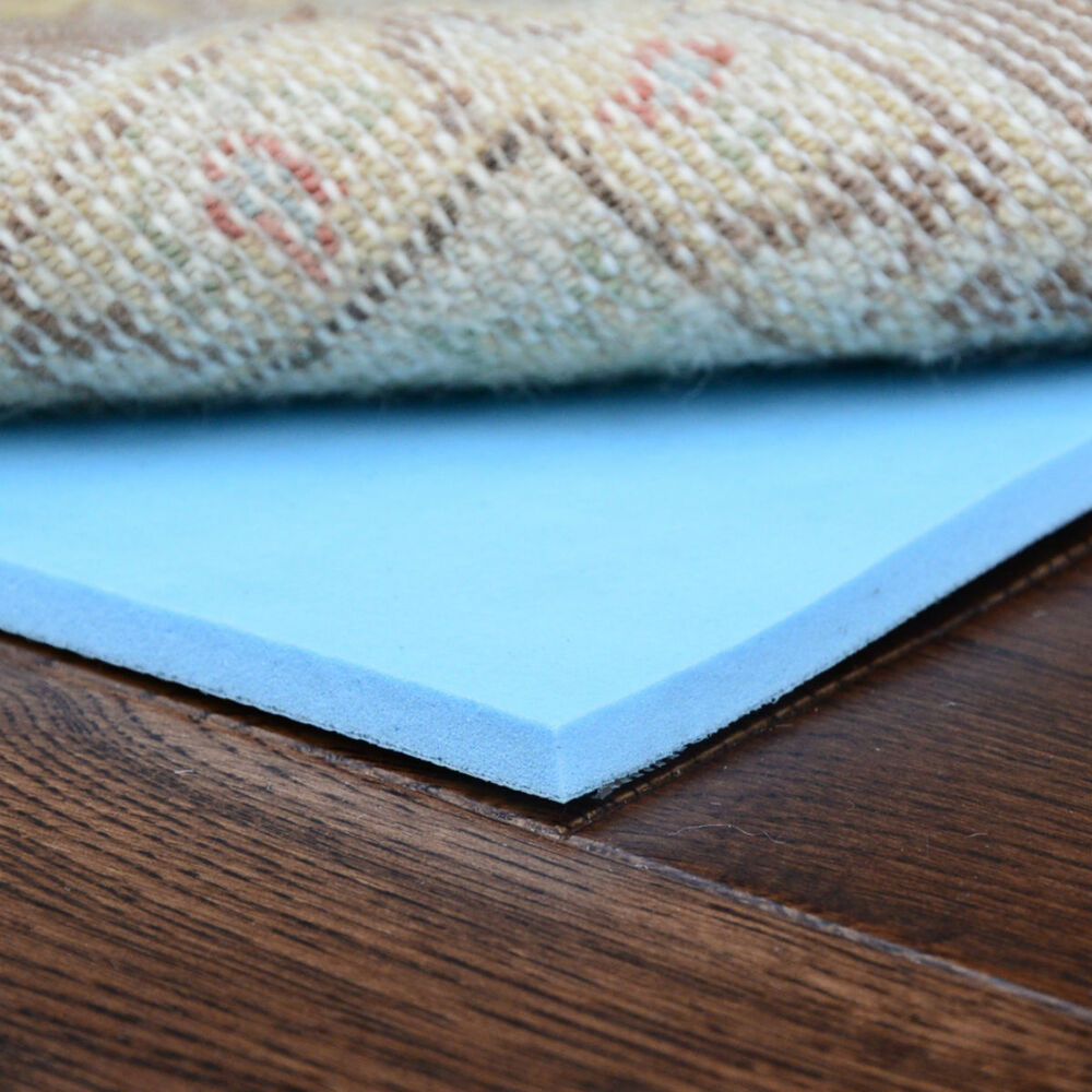 natural rug pad healthier choice memory foam 1 4 thick rectangles ebay. Black Bedroom Furniture Sets. Home Design Ideas