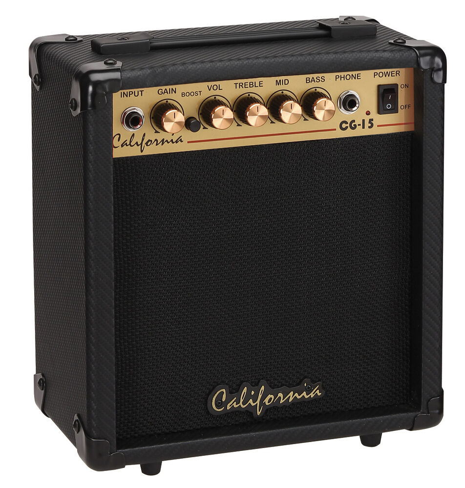 california cg 15 15 watts guitar amplifier overdrive ebay. Black Bedroom Furniture Sets. Home Design Ideas
