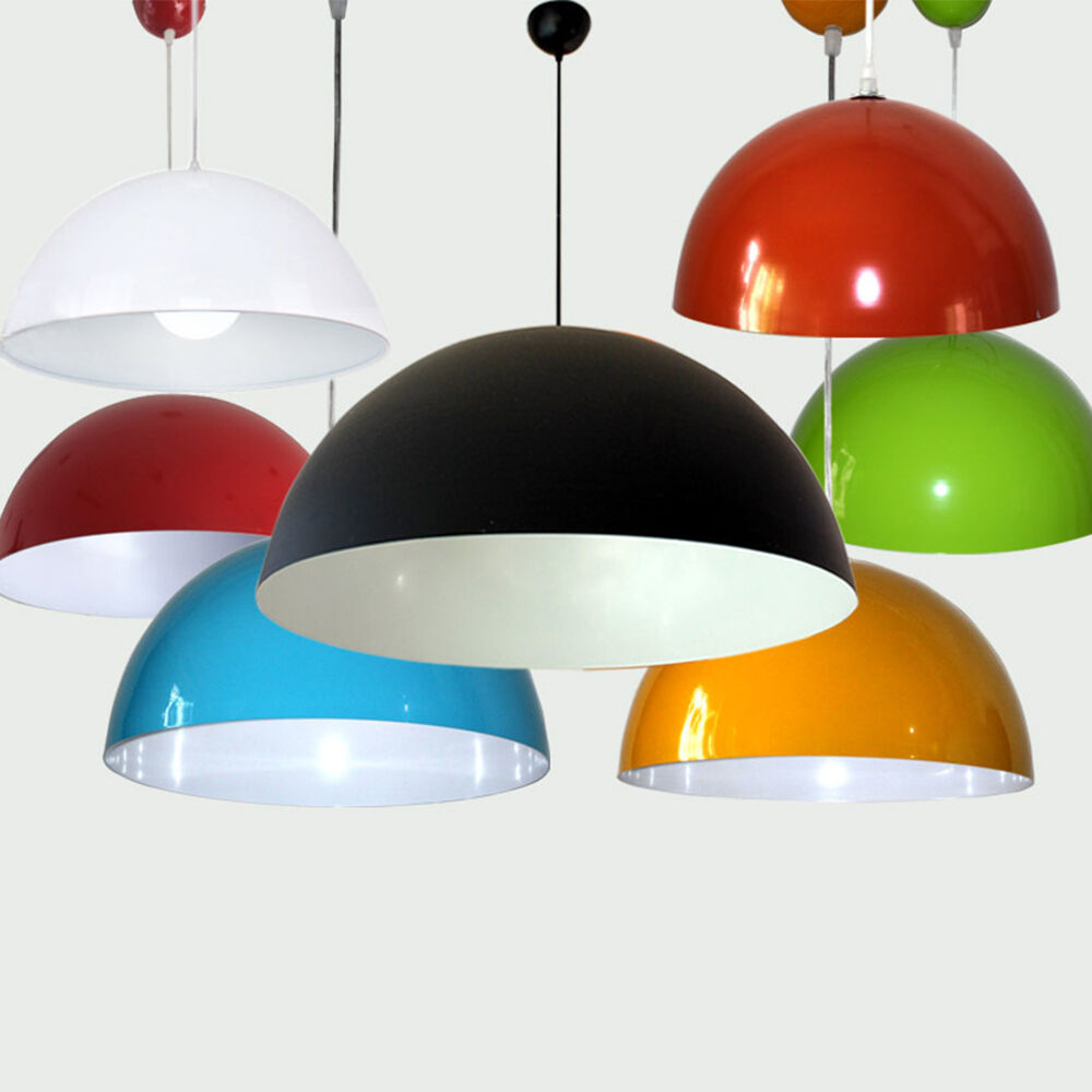 Colorful Vintage Metal Lamp Shade Ceiling Light Fixture