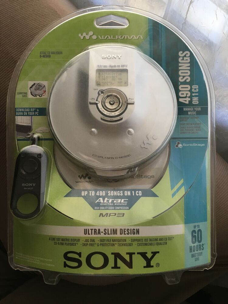 new sony walkman portable cd player dne 500 with mp3 atrac. Black Bedroom Furniture Sets. Home Design Ideas