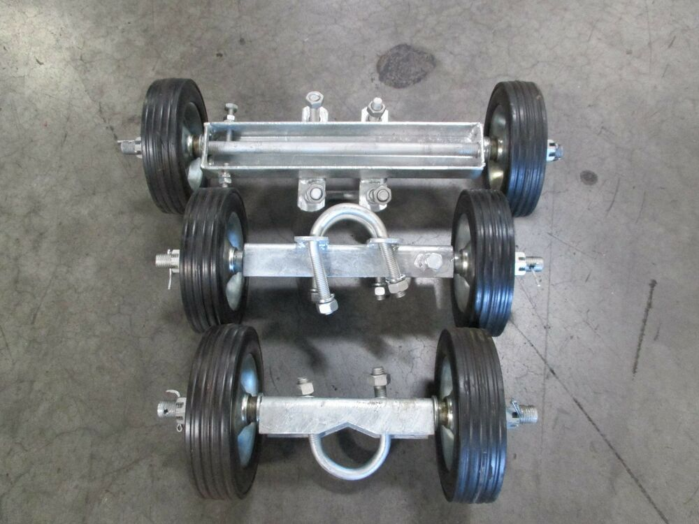 6 Quot Rolling Gate Carrier Wheels For Chain Link Fence Rolling Gates Rut Runner Ebay