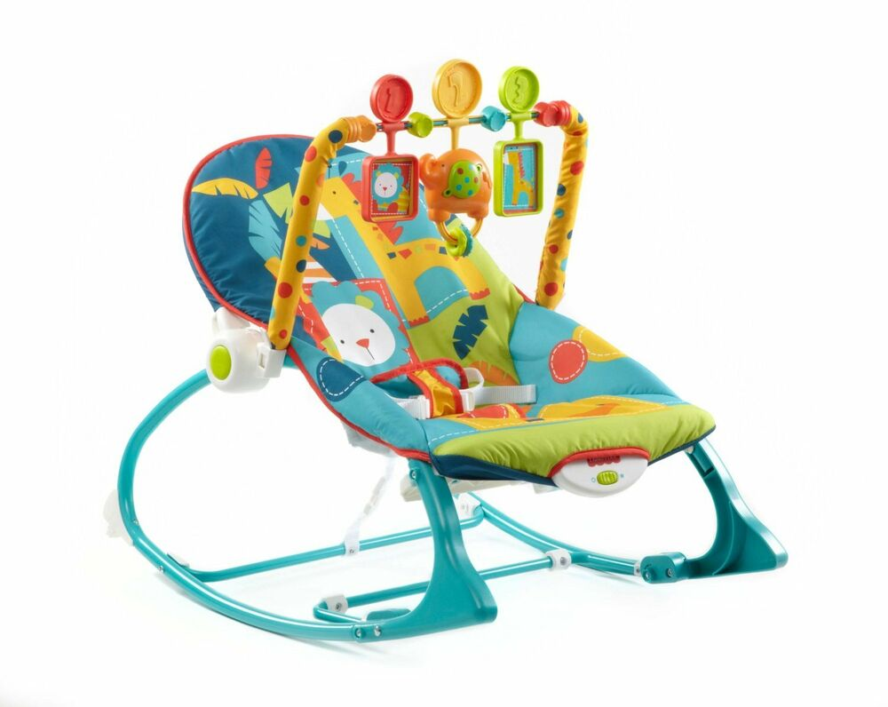 Fisher Price Infant To Toddler Rocker Dark Safari New
