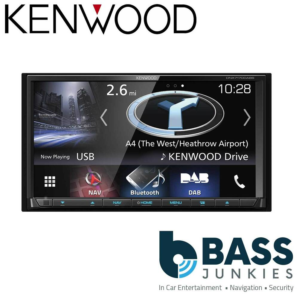 kenwood dnx 7170dabs 7 double din dvd car play sat nav. Black Bedroom Furniture Sets. Home Design Ideas