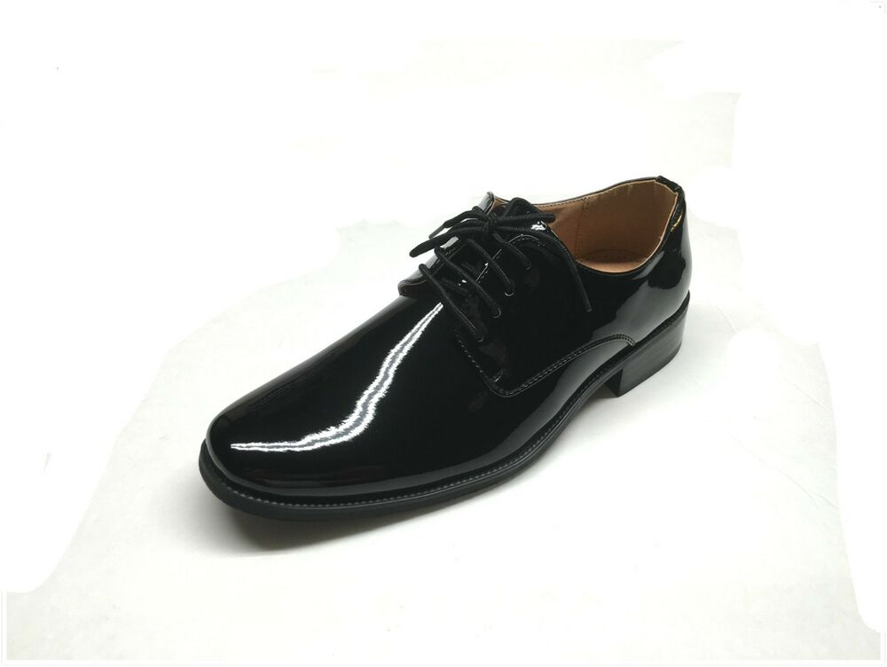 mens tuxedo formal dress shoes patent leather sz 6 5 15
