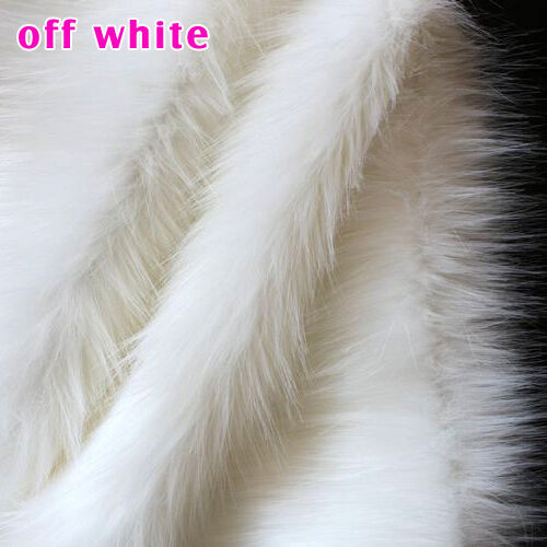 off white shaggy faux fur fabric long pile fur costumes cosplay crafts 60 bty ebay. Black Bedroom Furniture Sets. Home Design Ideas