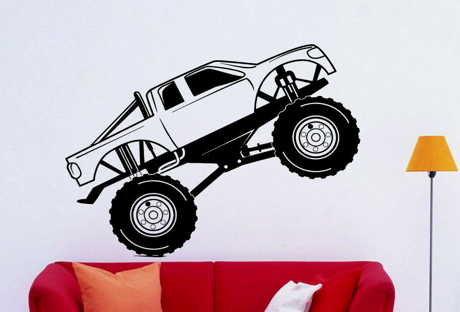 monster truck wall decal vinyl sticker big monster car interior art decor 5bmc ebay. Black Bedroom Furniture Sets. Home Design Ideas