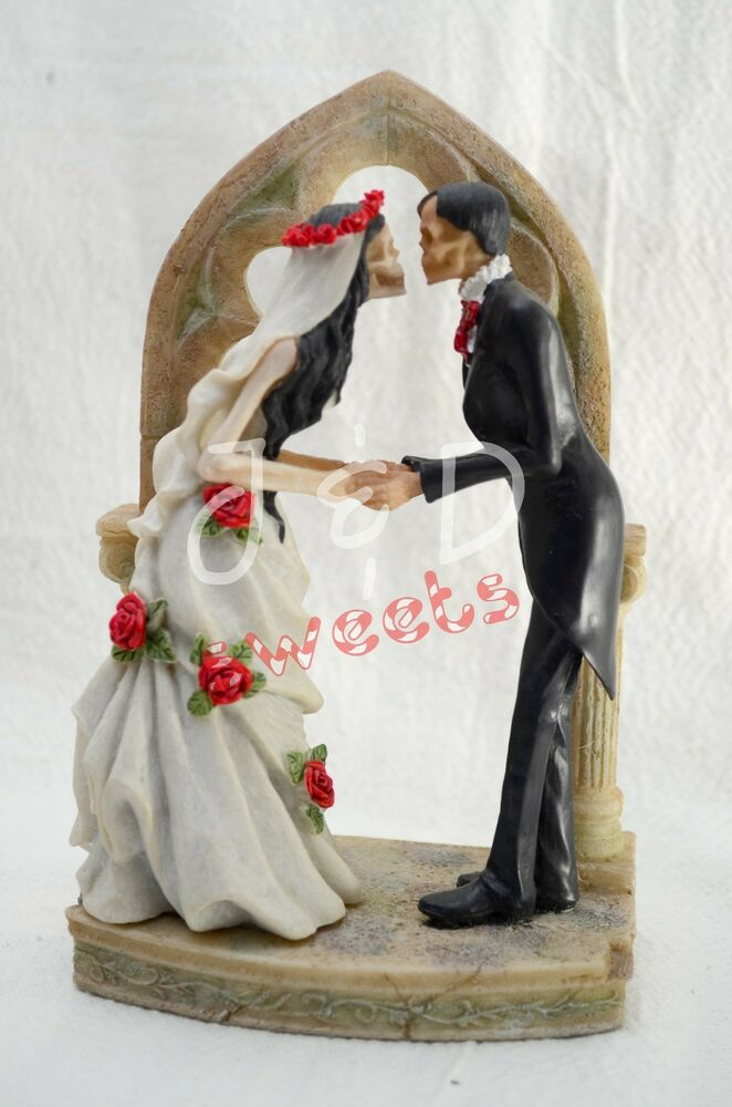 Skeleton Bride And Groom Cake Toppers Uk