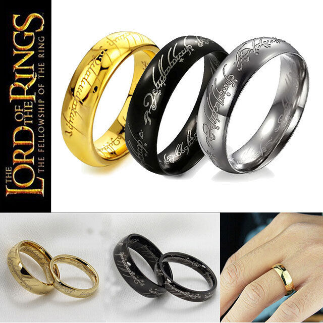 stylish lord of the rings the one ring lotr titanium steel