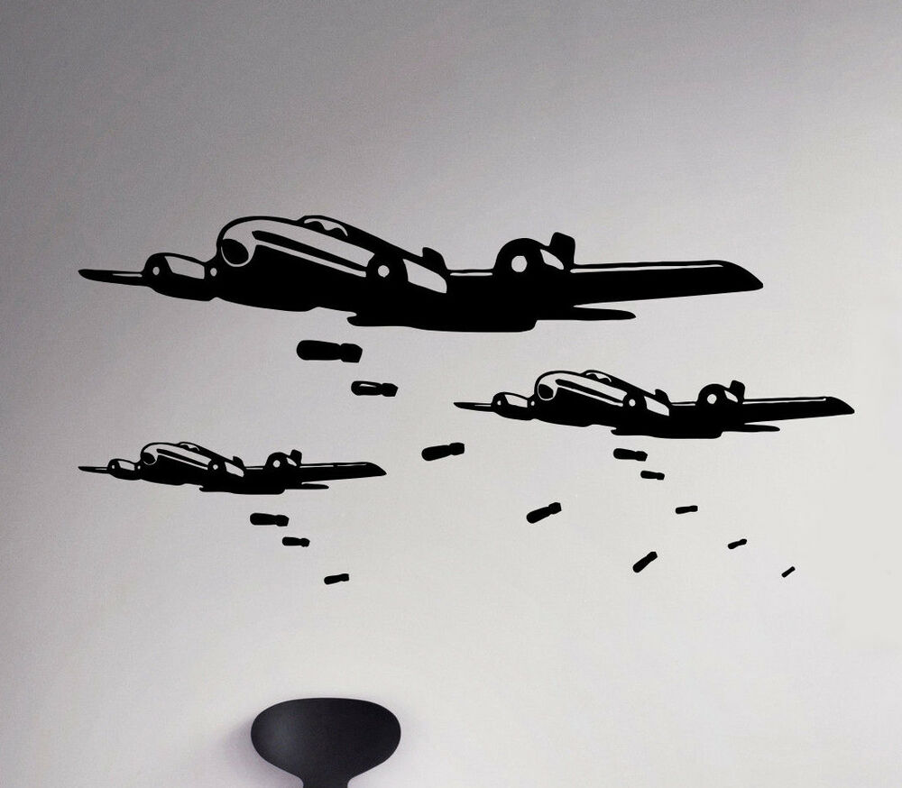 Military aircraft wall decal air force vinyl sticker army for Decor 6 air force
