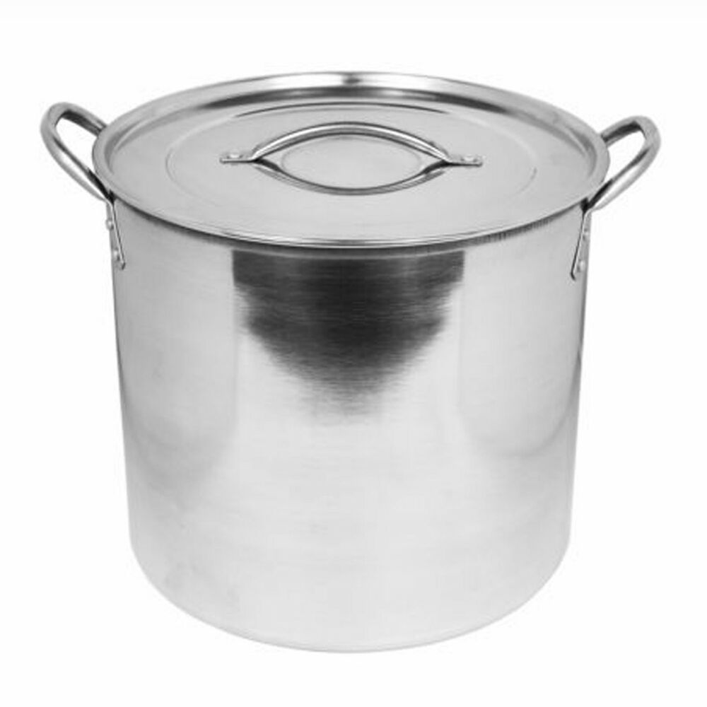 large stainless steel 11 litre new casserole dish stockpot cooker dish pot lid ebay. Black Bedroom Furniture Sets. Home Design Ideas