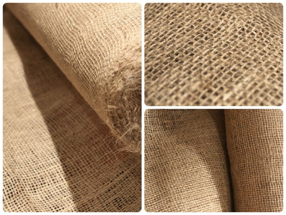 Hessian fabric roll for craft bags sack making cloth for Burlap fabric projects
