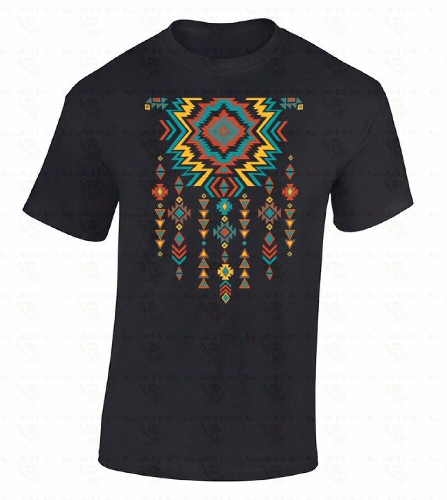 Southwest Necklace Pattern T Shirt Native American Indian