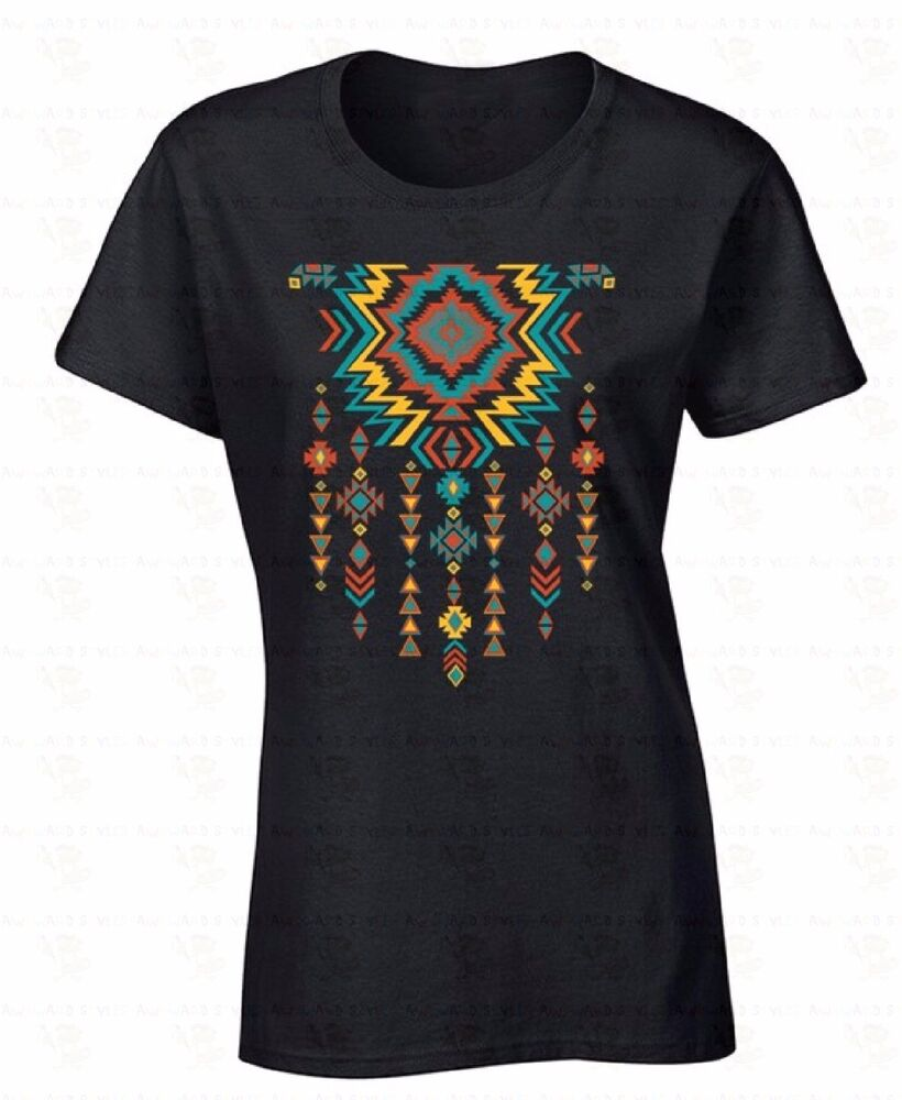 Southwest Necklace Pattern Women T Shirt American Native