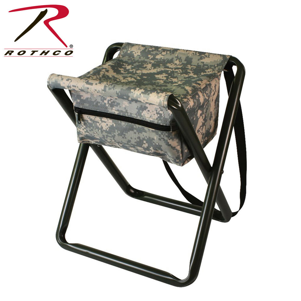 4546 Rothco Deluxe Stool With Pouch Acu Digital Camo Ebay