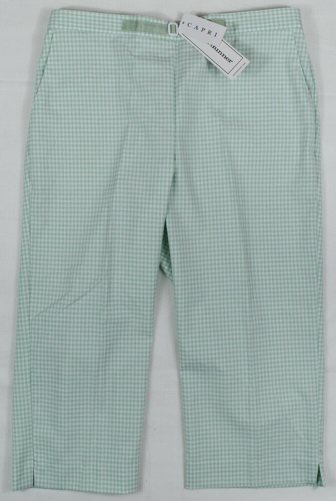 Alfred Dunner New Women S Mint Green Amp White Plus Size