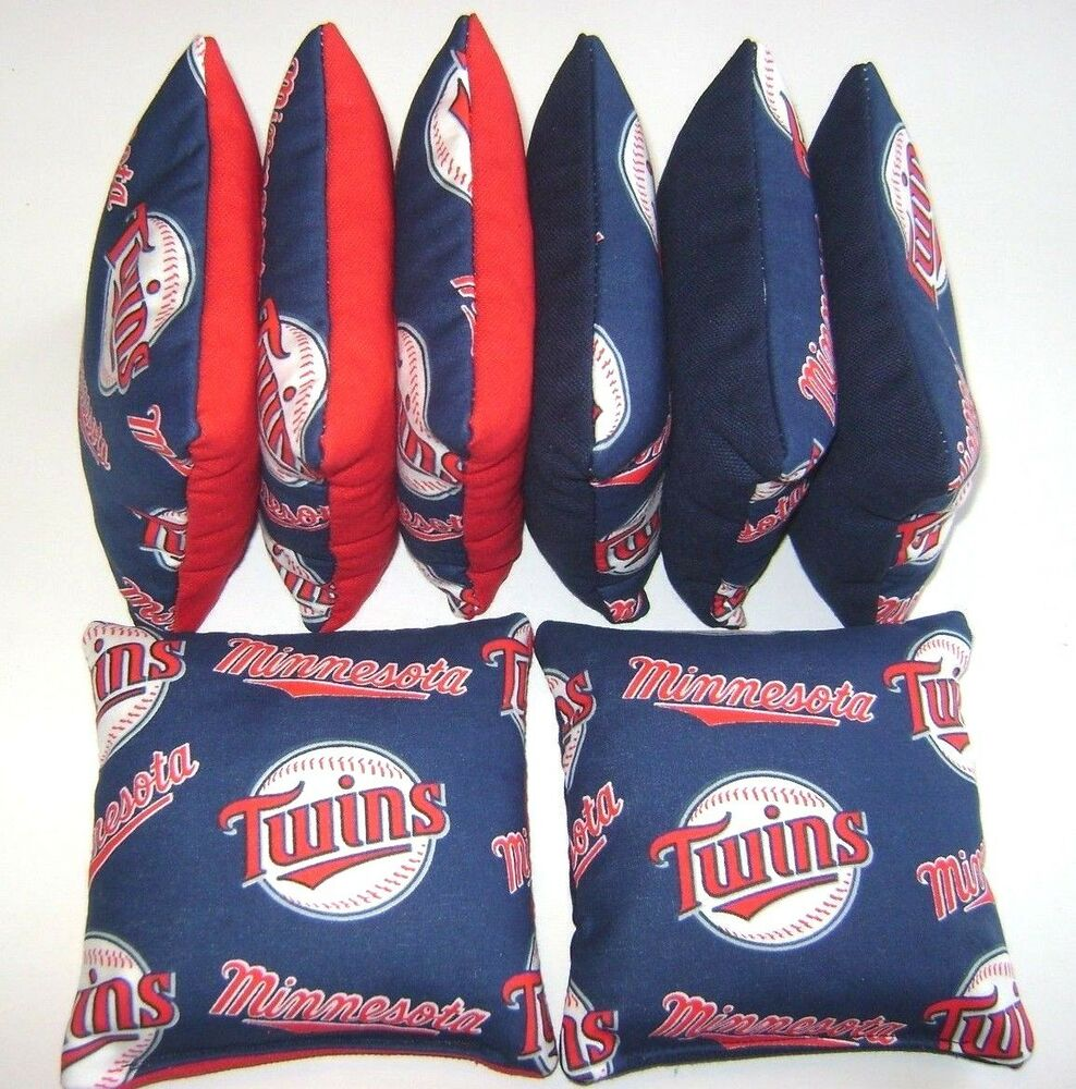 Minnesota Twins Cornhole Bean Bags Set Of 8 Top Quality