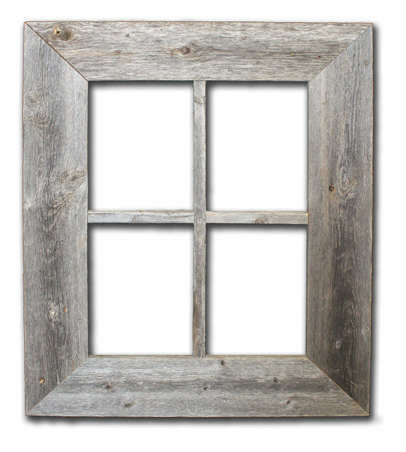Wood Window Frames : Reclaimed rustic barn wood window not for pictures ebay