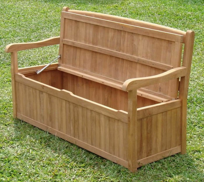 Devon Grade A Teak 5 Feet Outdoor Garden Patio Storage Bench Box Furniture Ne