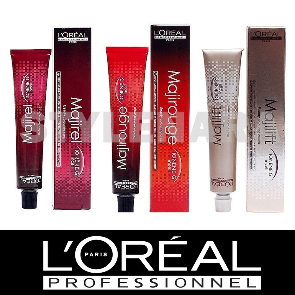 Majirel colour chart - L Or Al Professionnel Majirel Majirouge Majilift Permanent Creme Hair Colour Ebay
