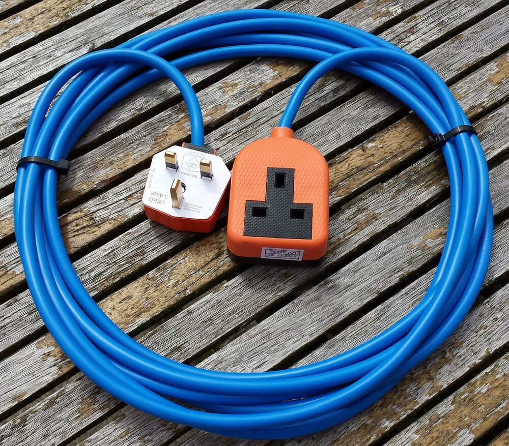 Electrical Extension Leads : Meter heavy duty gardening way single mains electrical