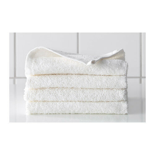 New ikea pack of 6 guest hand towel white washcloths soft for Bathroom hand towels