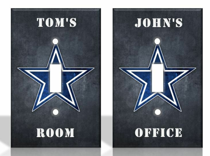 Personalized Dallas Cowboys Light Switch Covers Nfl