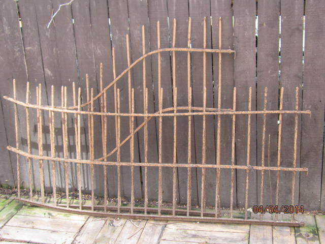 2 Antique Wrought Iron Fencing Railing Sections Ebay
