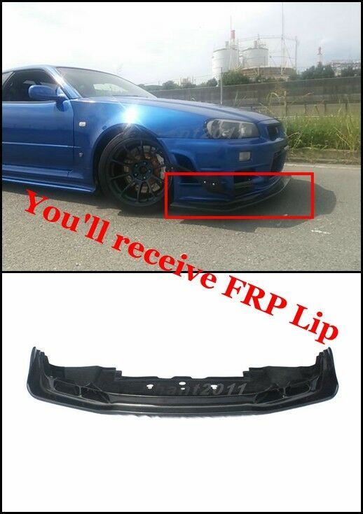 frp auto select front lip with undertray fit for 99 02 nissan skyline r34 gtr ebay. Black Bedroom Furniture Sets. Home Design Ideas