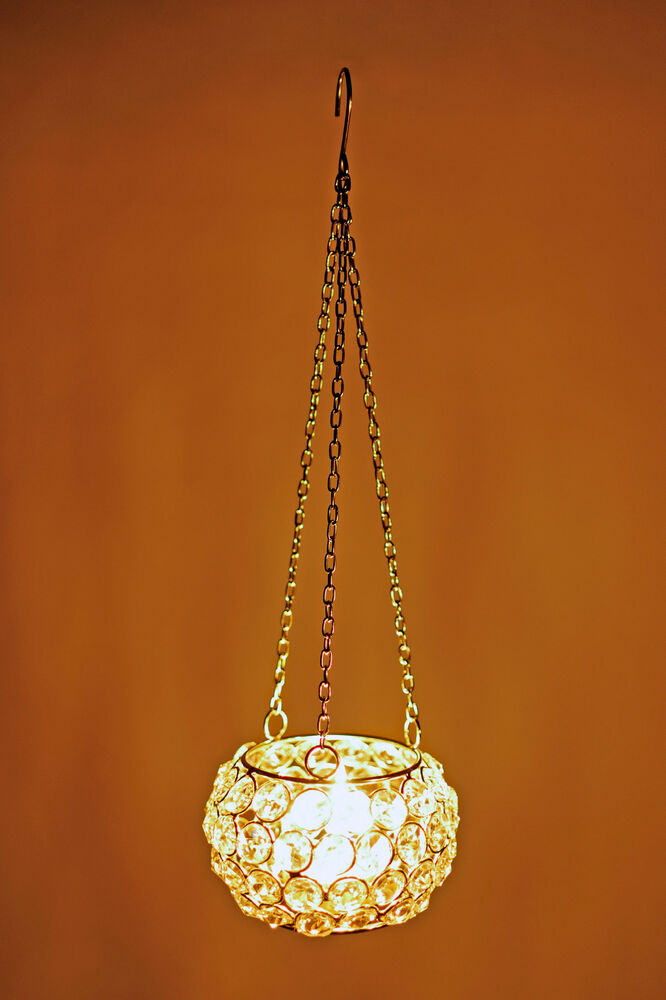 Crystal Hanging Tealight Votive Candle Holders Chandeliers