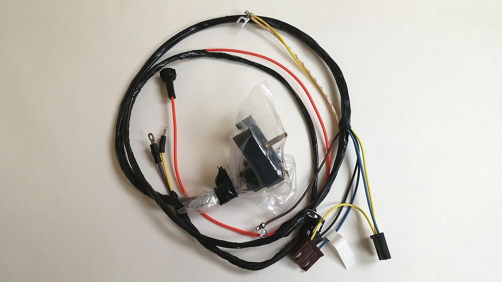 1968 Camaro Nova Engine Starter Wiring Harness With Gauges Ss 302 327 350 396