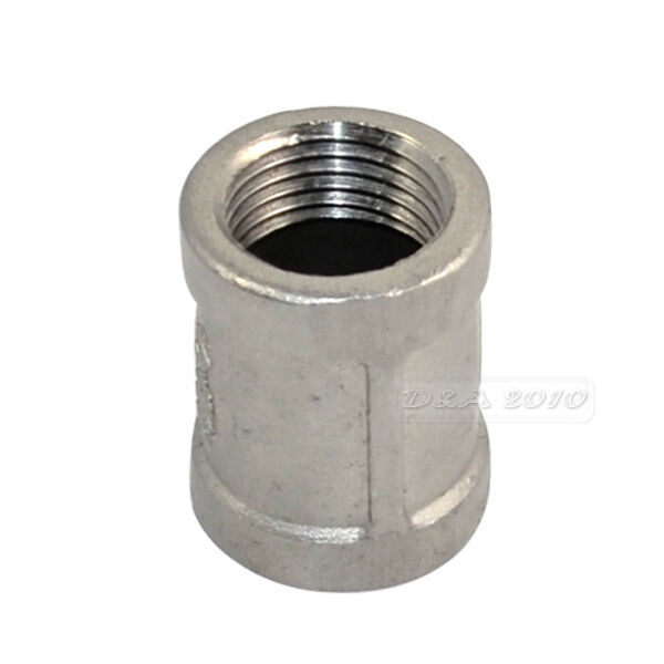 Quot female couple stainless steel threaded