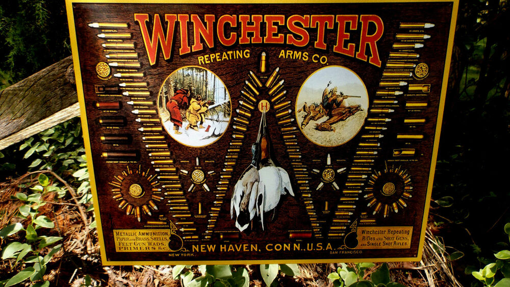 Winchester Rifle Shotgun Ammunition And Bullets Tin