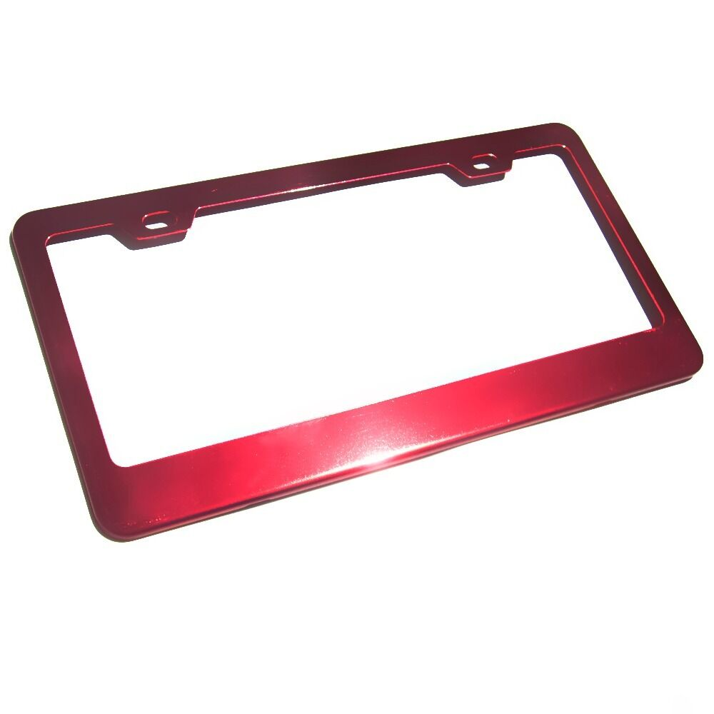 New Stainless Steel Powder Coated Red Chrome Car License