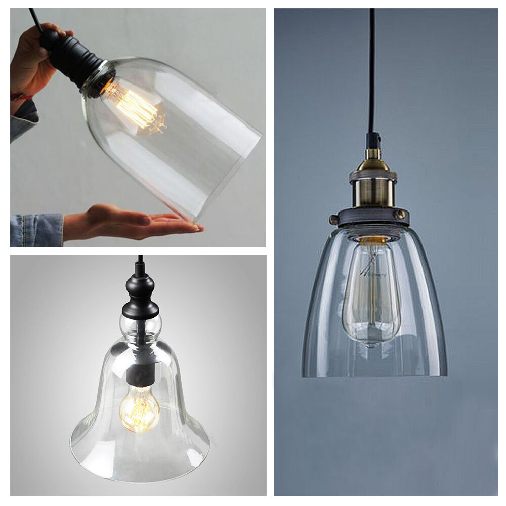 Ceiling Lamp The Sims 4: 4 Type Clear Glass Vintage Pendant Light Fixture
