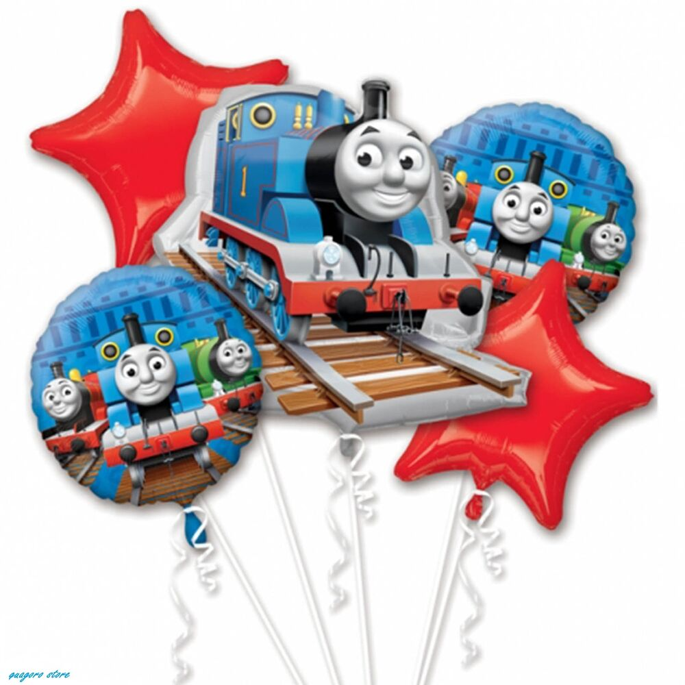 Thomas the tank engine birthday balloon bouquet for Balloon decoration equipment