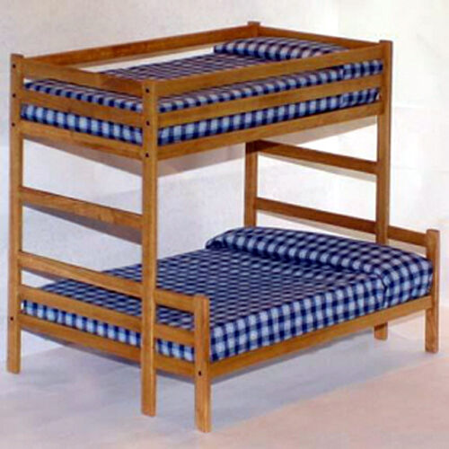Twin over full bunk bed woodworking plans patterns ebay for Bunk bed woodworking plans