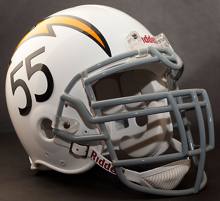 San Diego Chargers Helmets: JUNIOR SEAU Edition SAN DIEGO CHARGERS Riddell AUTHENTIC