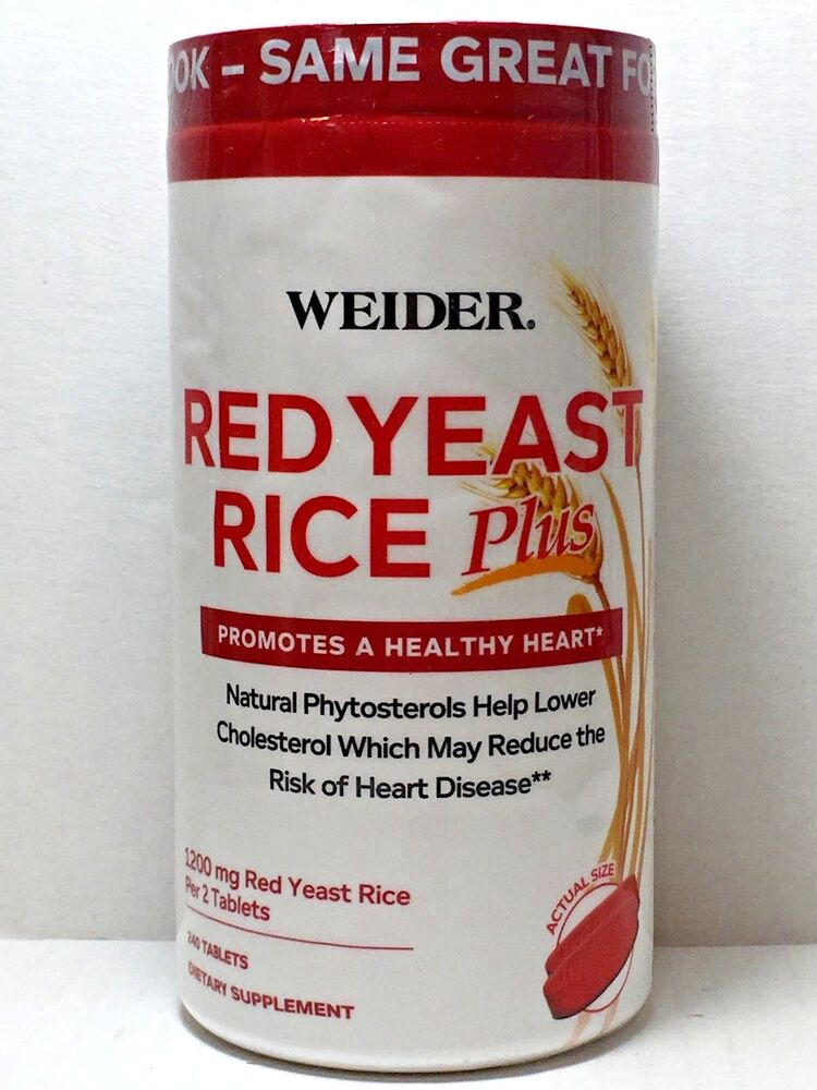 Weider Red Yeast Rice Plus with Phytosterols 180 Tablets