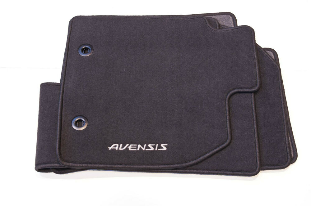 Genuine toyota avensis textile carpet floor mat mats set for Original toyota floor mats