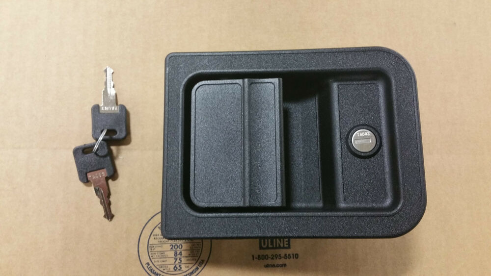 Simple RV Motorhome Entry Door Lock 60650 Trimark Black 0601650 601650
