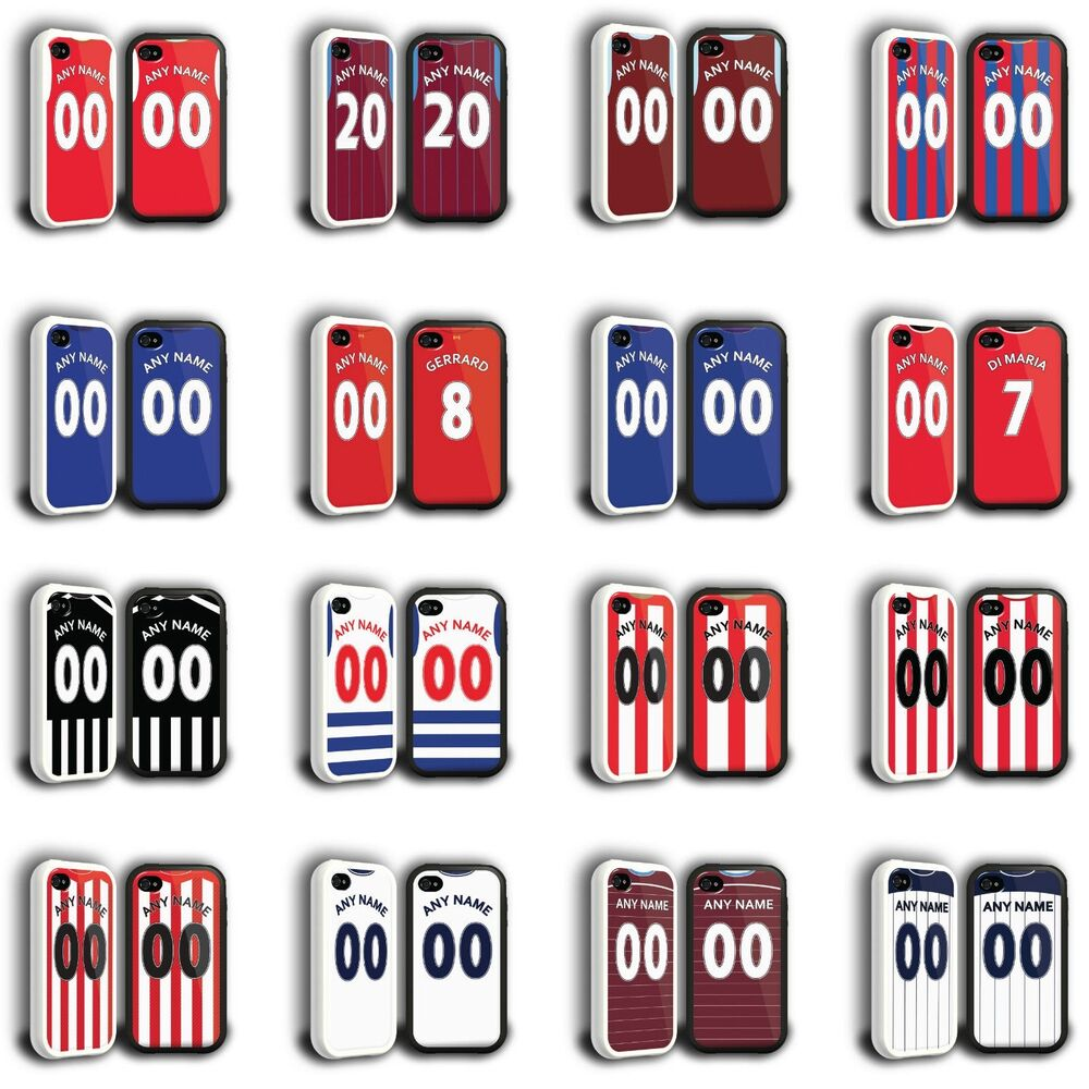 Case Design personalised bling phone cases : Personalised Football Shirt Style Phone Cover Case for iPhone Range ...