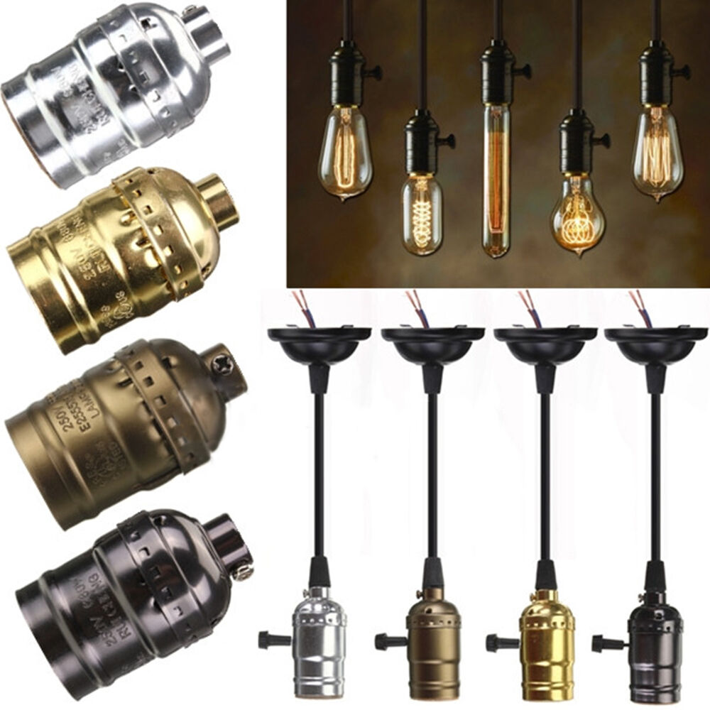 4 types e27 e26 edison bulb lamp holder retro vintage lighting parts accessories ebay. Black Bedroom Furniture Sets. Home Design Ideas