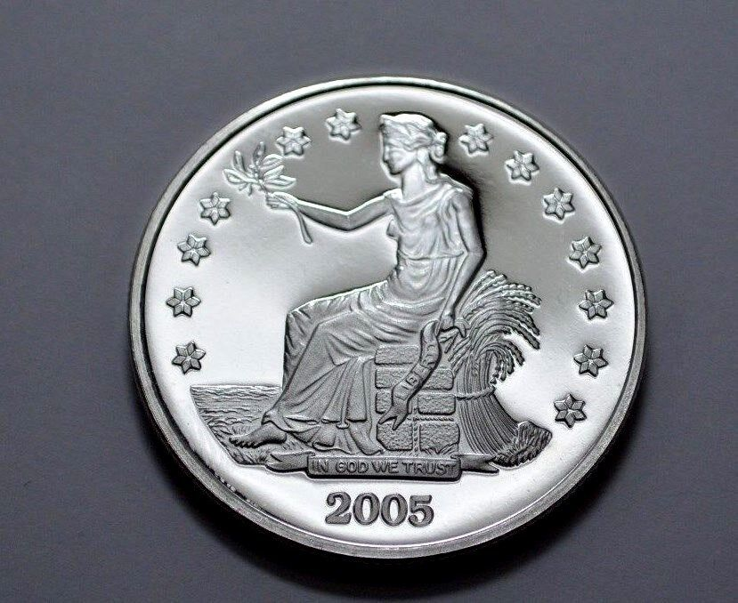 1 Oz Silver Proof Round 999 Fine Silver Trade Dollar