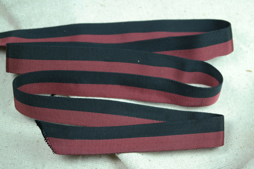 2 yards 3 4 2 tone red black vtg tubular rayon grosgrain for Chaise lounge beach towels