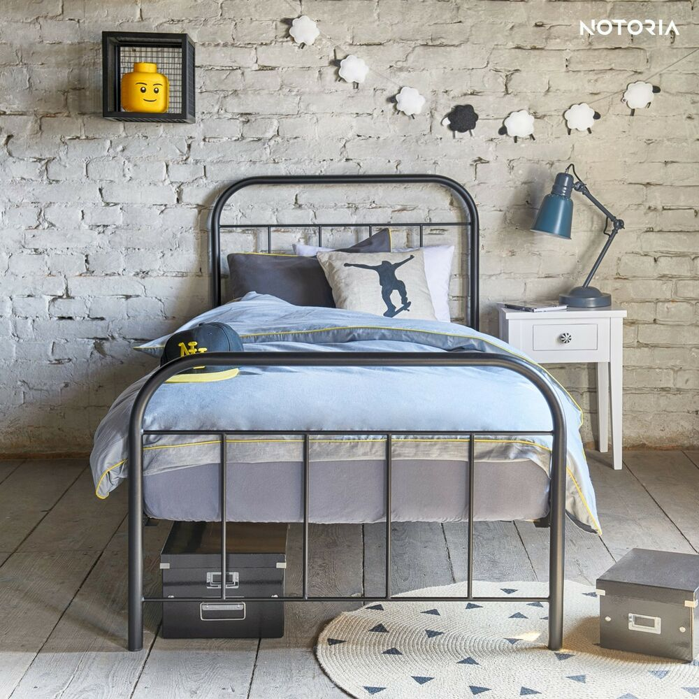 avos eisenbett metallbett jugendbett kinderbett 90x200 140x200 160x200 180x200 ebay. Black Bedroom Furniture Sets. Home Design Ideas